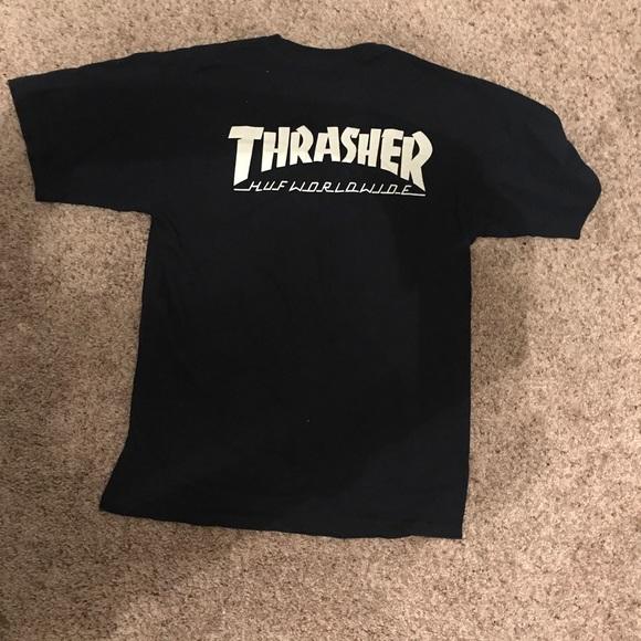 Huf Thrasher tee shirt size medium. M 5b909a06dcf8551e89ad5731 b9733bb84